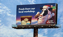 A poster billboard for Kemps ice cream