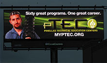 PTEC digital billboard