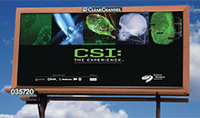 Science museum CSI billboard
