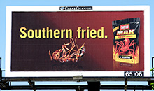 An Ortho Max Fireant killer poster billboard.
