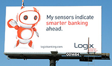 Logix used en extension to add creativity to their premiere panel billboard design.