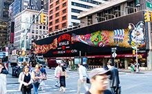 Ink Masters block-long billboard in Times Square.